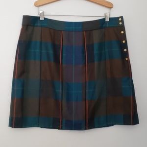 NWOT Tommy Hilfiger Tartan Plaid Pleated Skirt